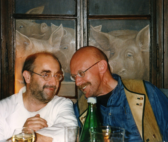 Nürnberger Künstler Wolfgang Harms und der Sternekoch Franz Keller,Berühmte Künstler, Nürnberger Phantast,