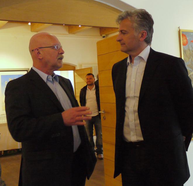 Dr.Erich Peischl und Wolfgang Harms aus Nürnberg,